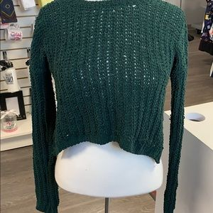 Xs cable knit sweater cropped